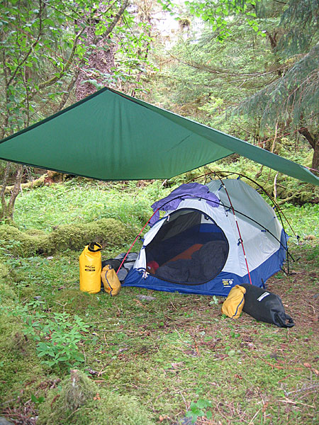Outdoor Product Nylon Tarp Outdoor Products Nylon Tarp set up in our c& in Southeast Alaska & Outdoor Products Nylon Tarp Review | OutsideForever